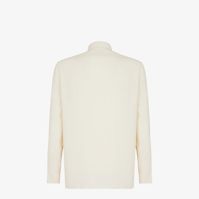FENDI SHIRT - White tech fabric shirt - view 2 detail
