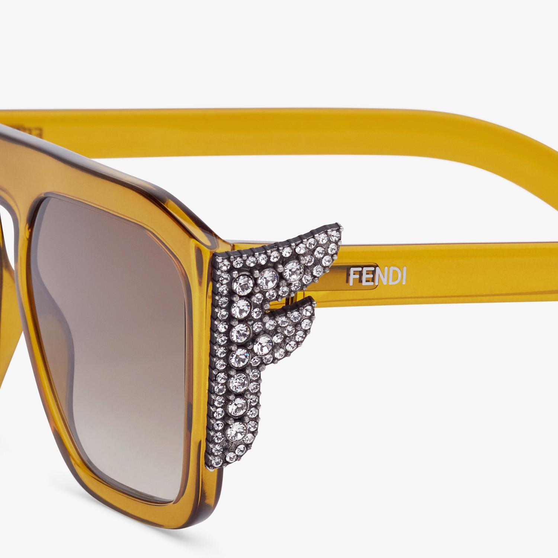FENDI FFREEDOM - Occhiali da sole gialli - vista 3 dettaglio