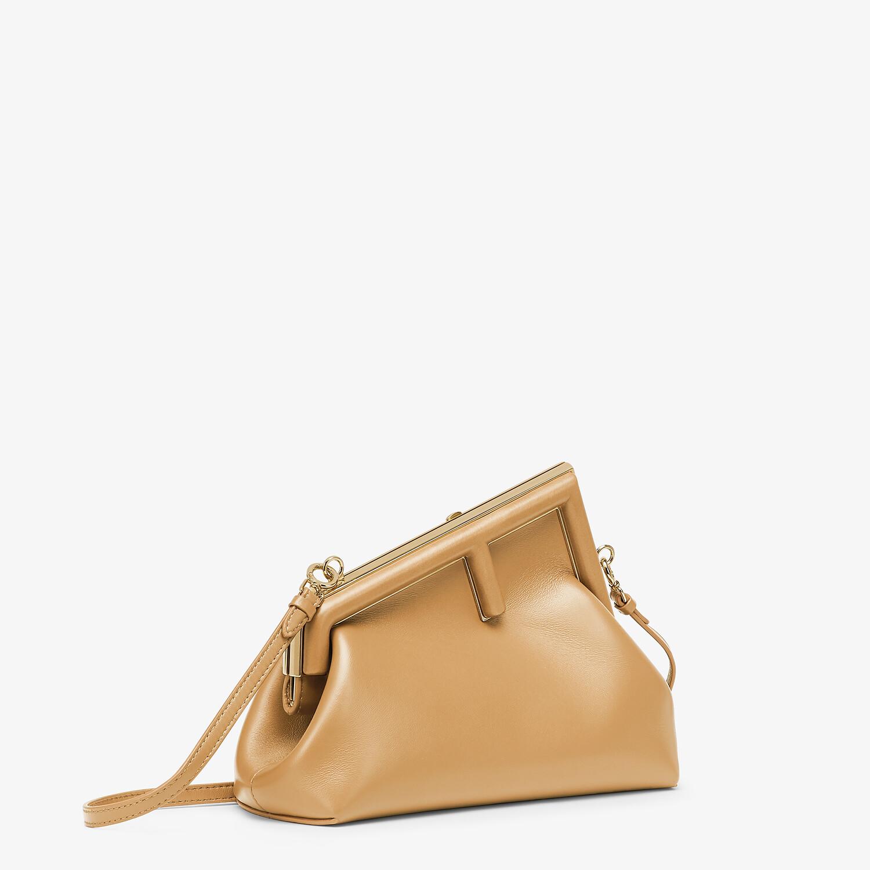 FENDI FENDI FIRST SMALL - Beige leather bag - view 2 detail