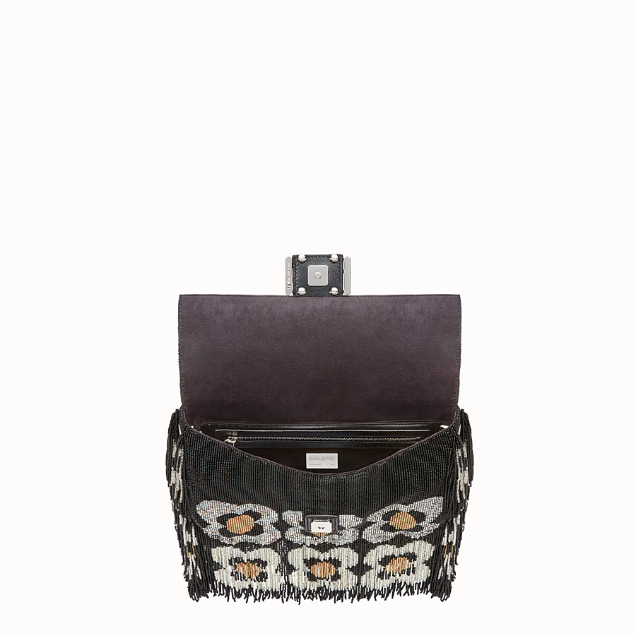 FENDI BAGUETTE - Shoulder bag with beads and fringing - view 4 detail