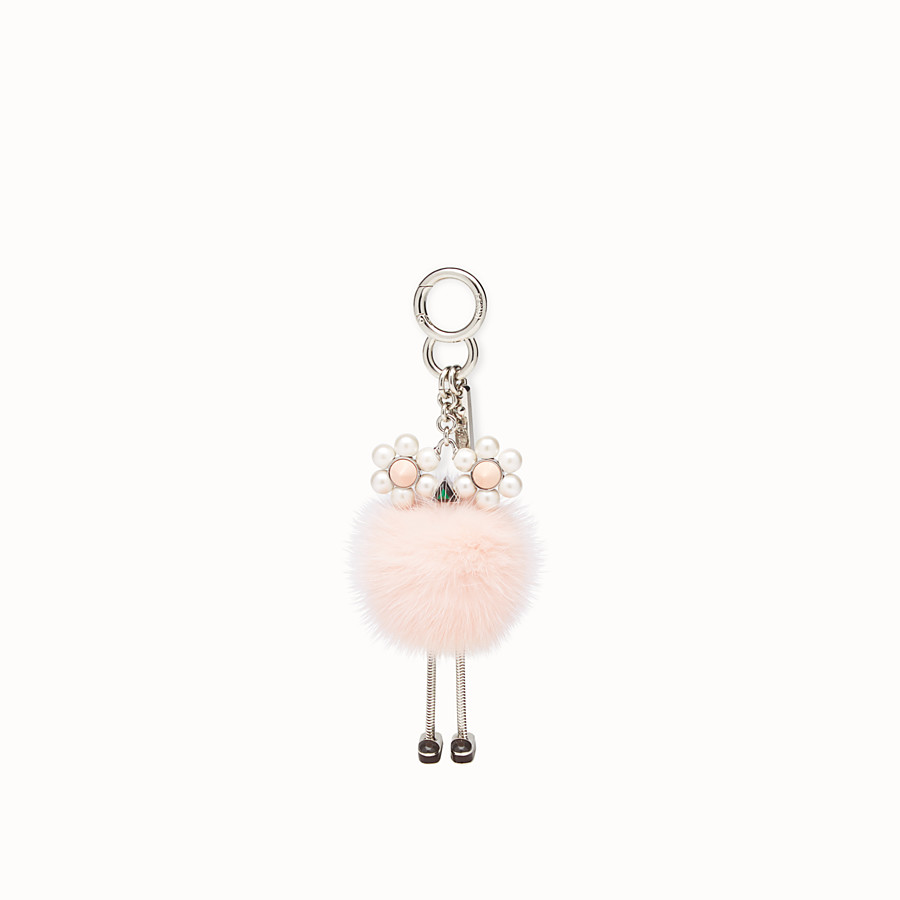 FENDI CHICK CHARM - Pink fur charm - view 2 detail