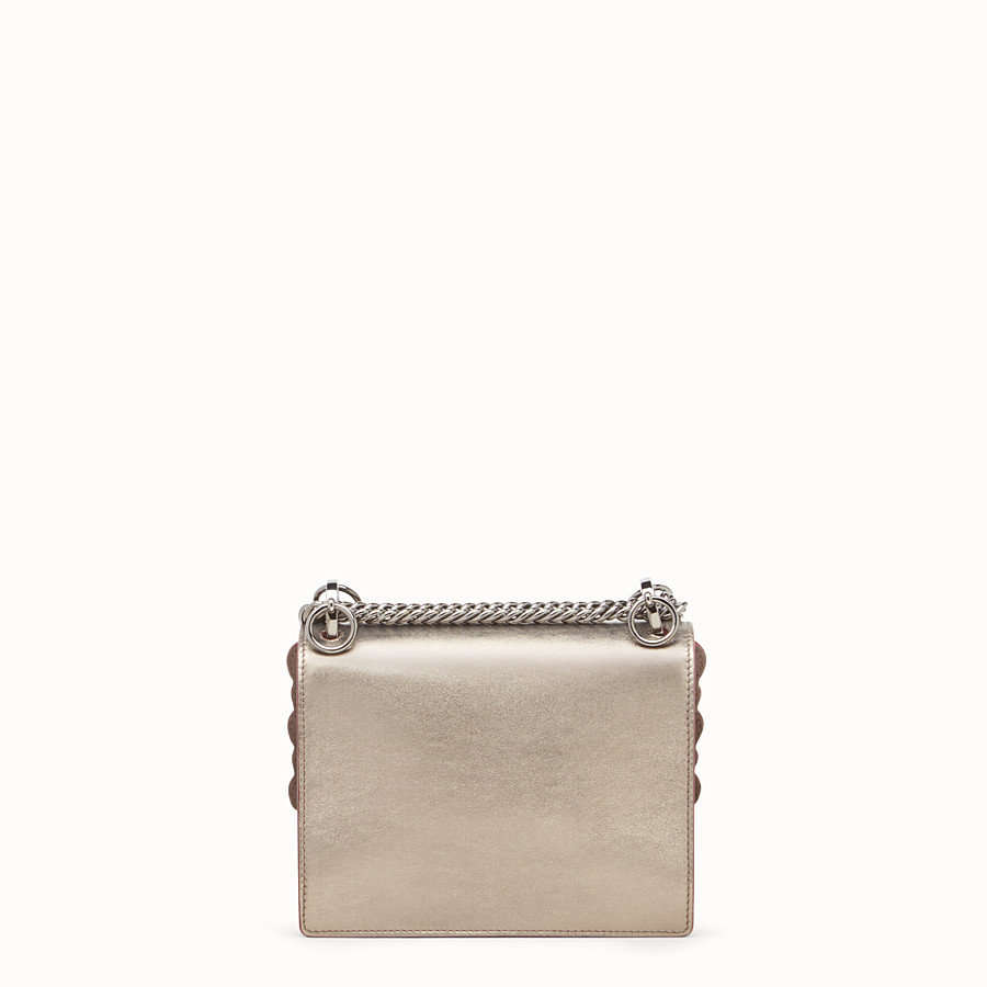 FENDI KAN I SMALL - Bronze-coloured leather mini bag - view 3 detail
