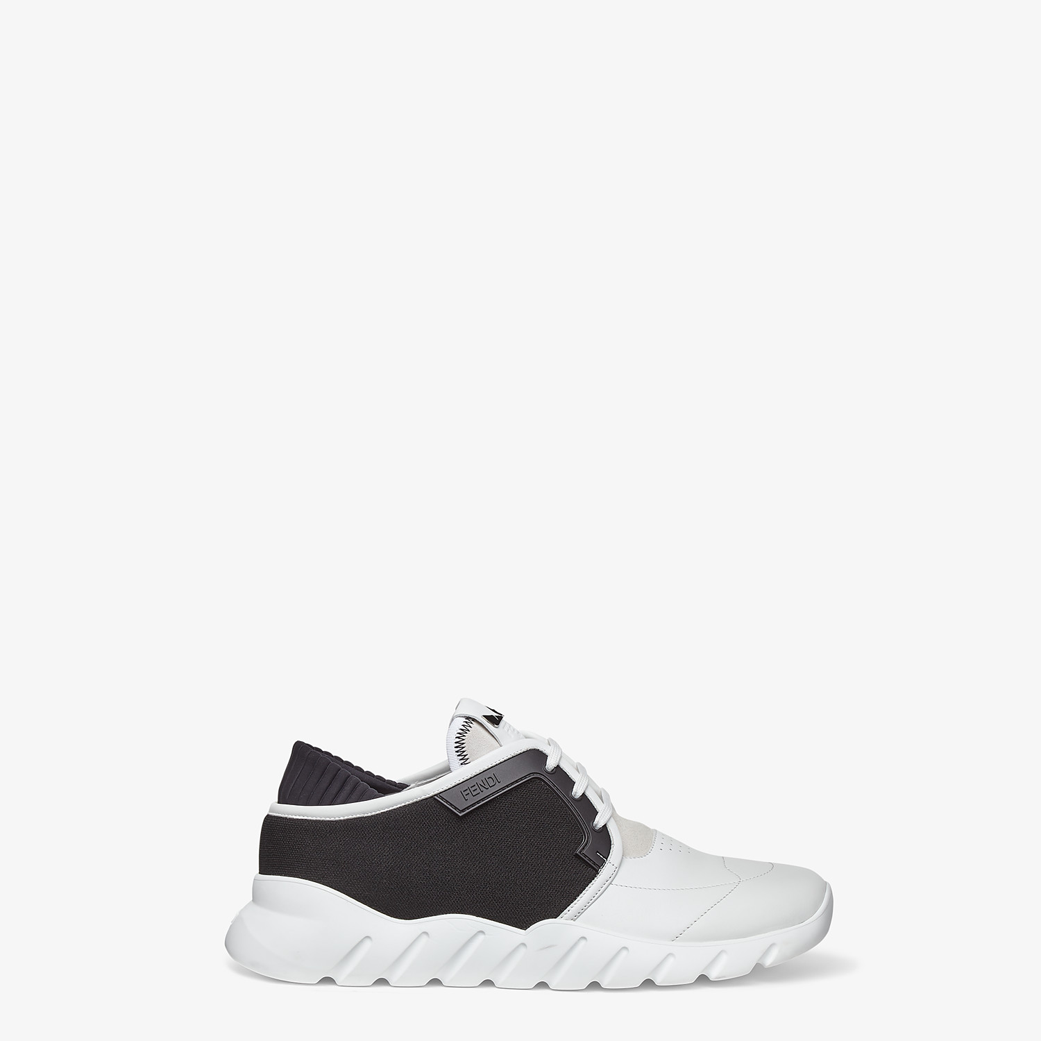 FENDI SNEAKERS - Multicolour leather and mesh low-tops - view 1 detail