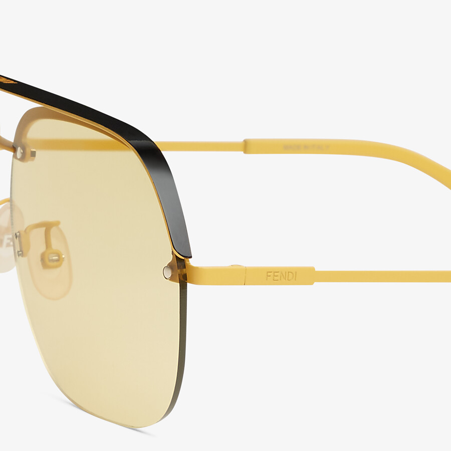 FENDI FENDI PACK - Yellow sunglasses - view 3 detail