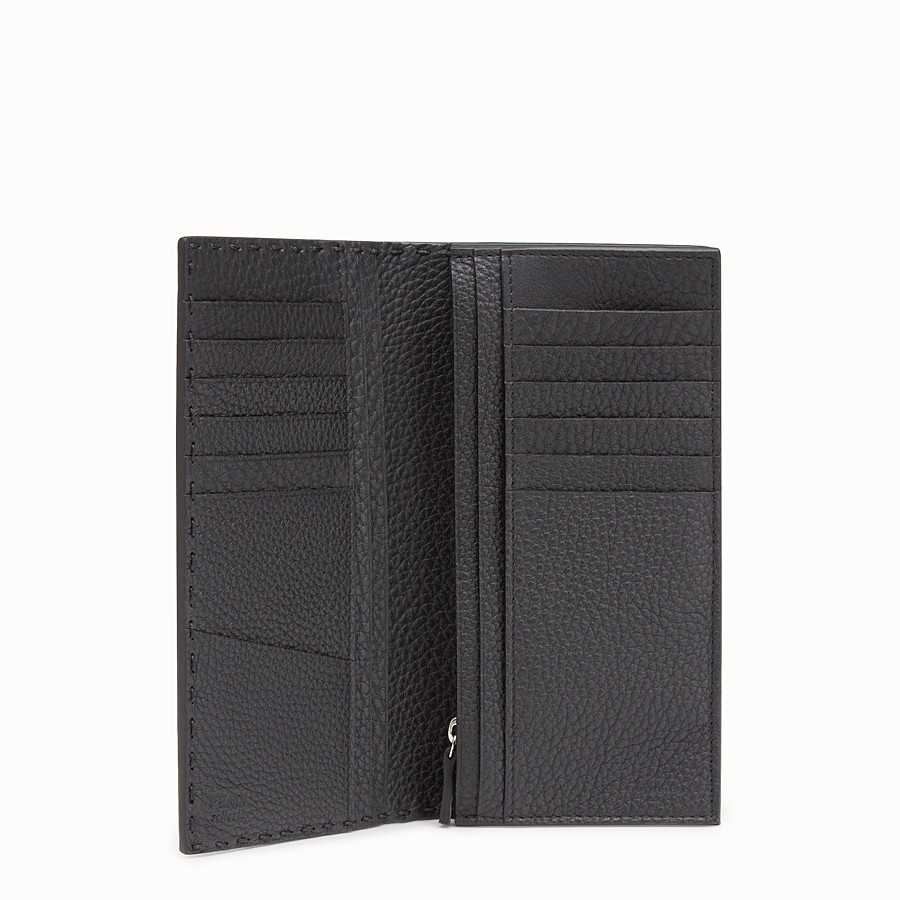 FENDI WALLET - Continental black Roman leather - view 3 detail