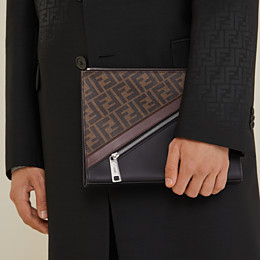 FENDI CLUTCH - Pochette aus Stoff in Braun - view 6 thumbnail