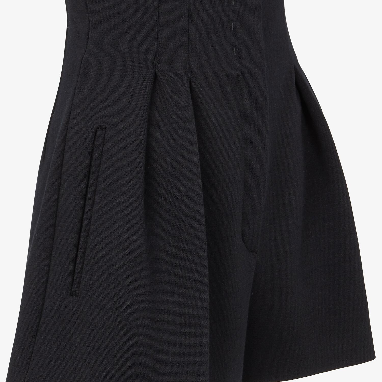 FENDI PANTS - Black piqué shorts - view 3 detail