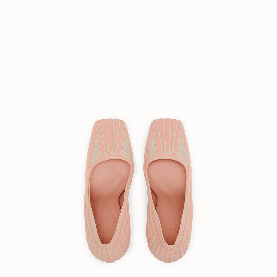 FENDI COURT SHOES - Pink fabric court shoes - view 4 detail
