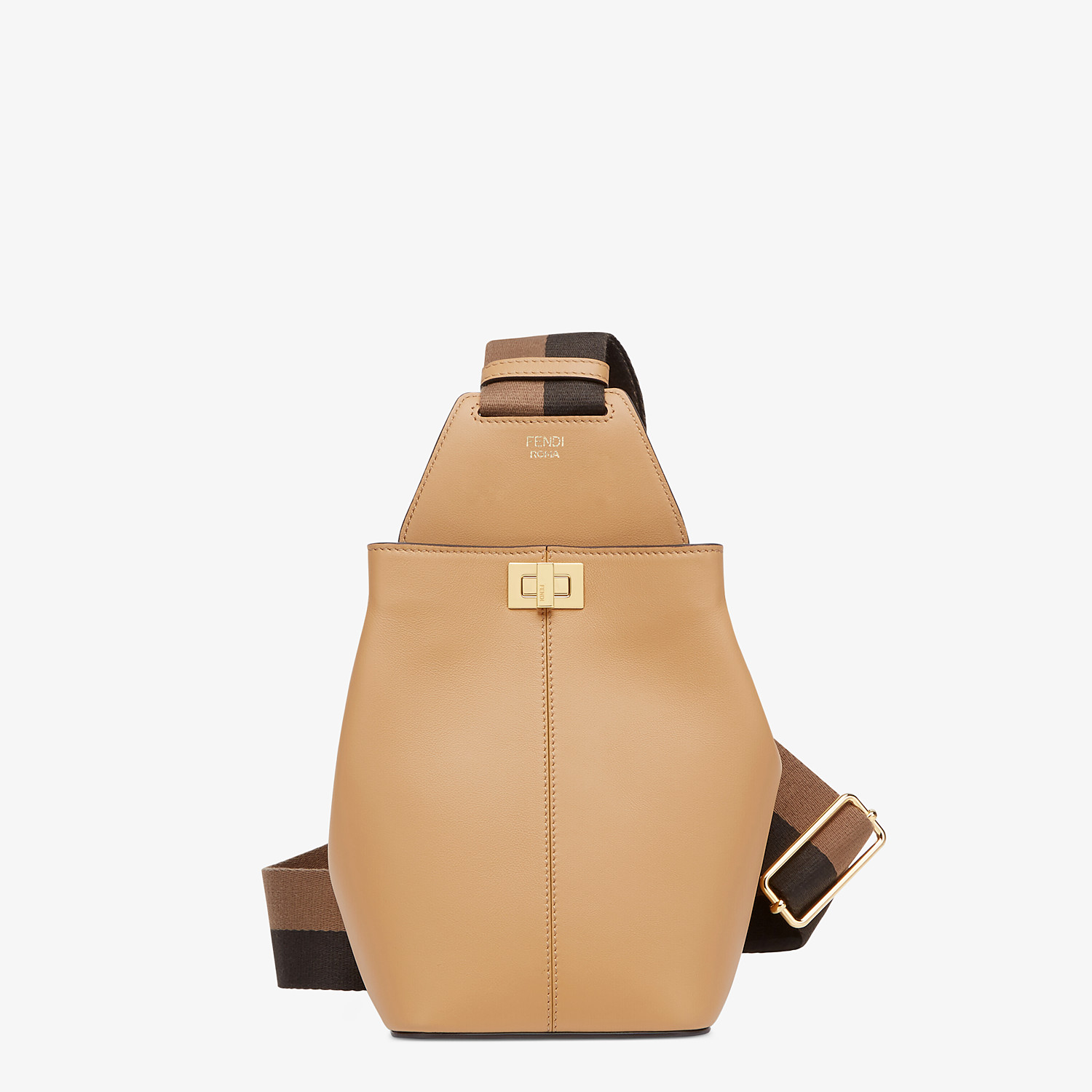 FENDI GUITAR BAG - Beige leather mini-bag - view 1 detail