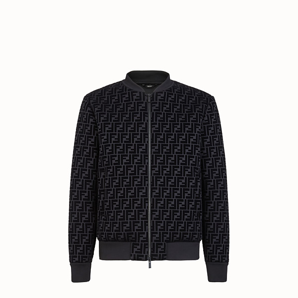 FENDI BLOUSON JACKET - Black jersey jacket - view 1 small thumbnail