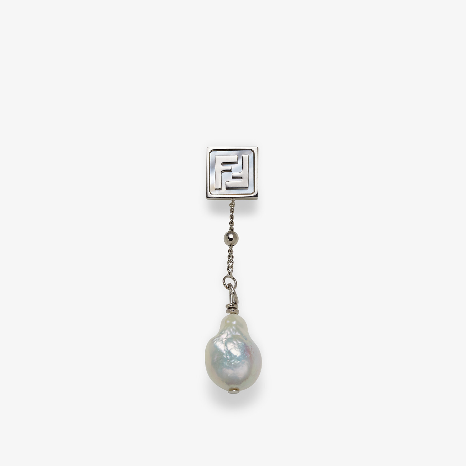 FENDI EARRING - Silver-colored earring - view 1 detail