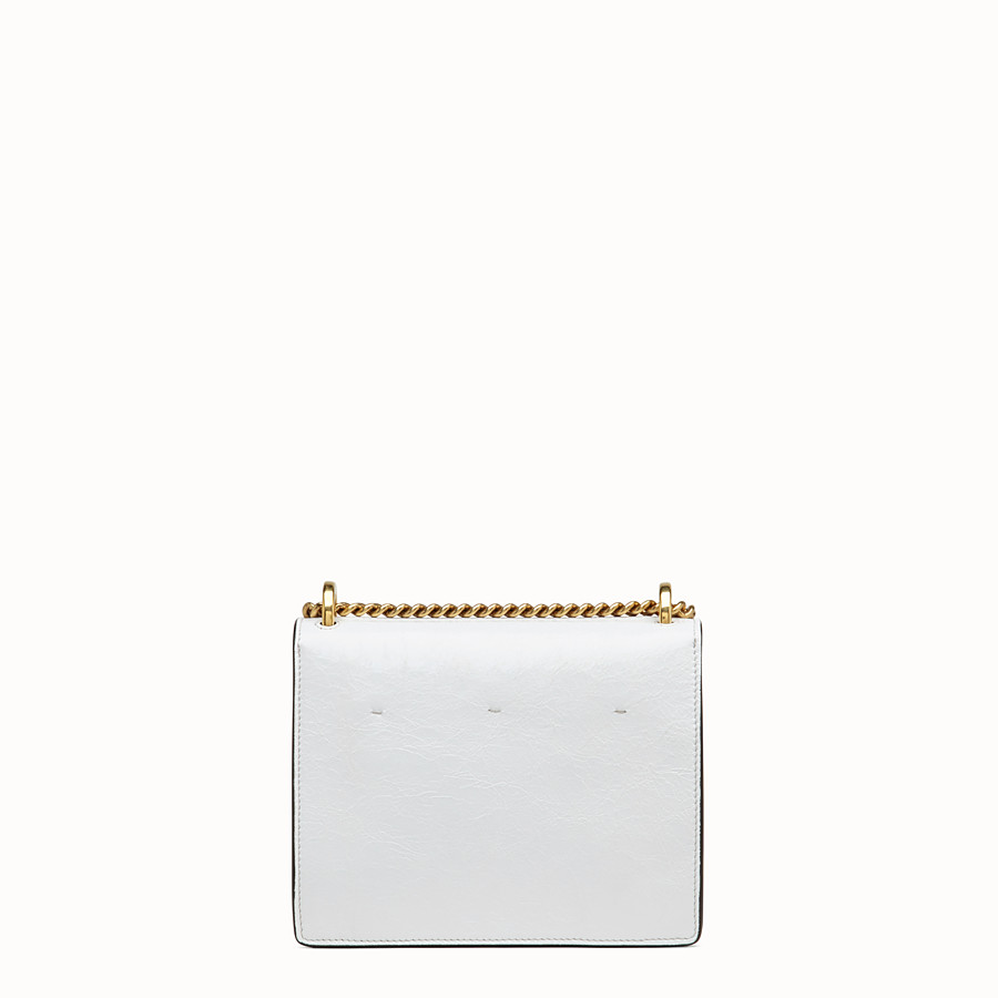 FENDI KAN U SMALL - White leather mini-bag - view 4 detail