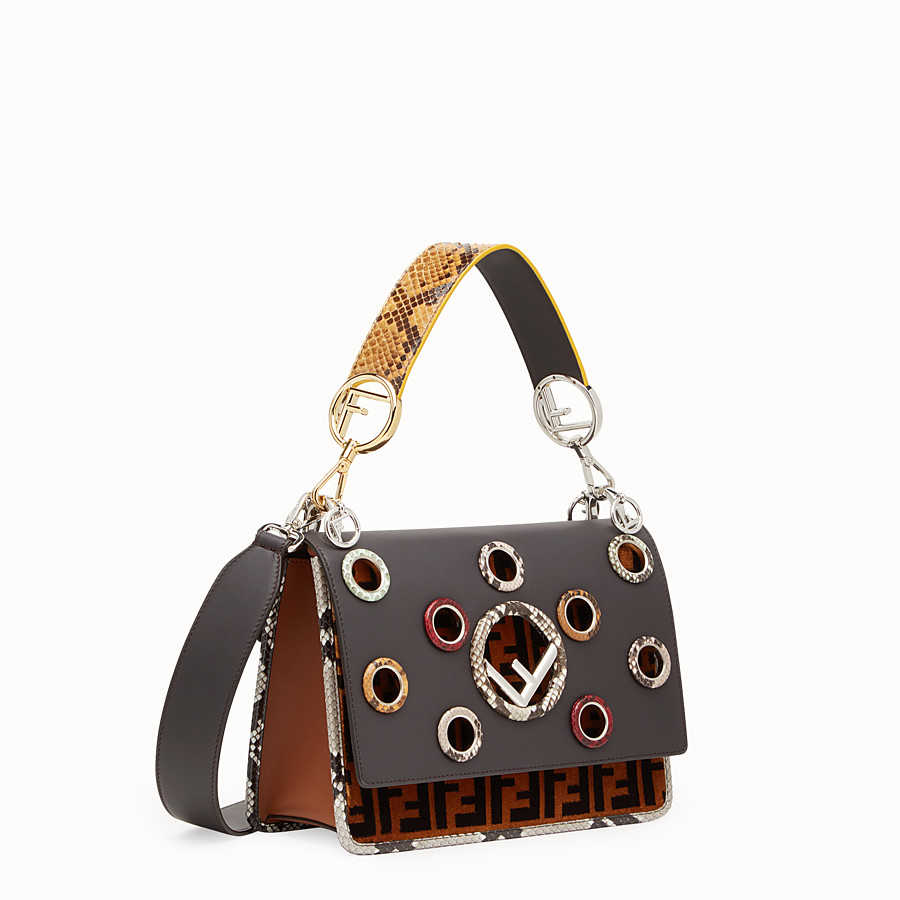 FENDI KAN I F - Multicolour bag with exotic details - view 2 detail