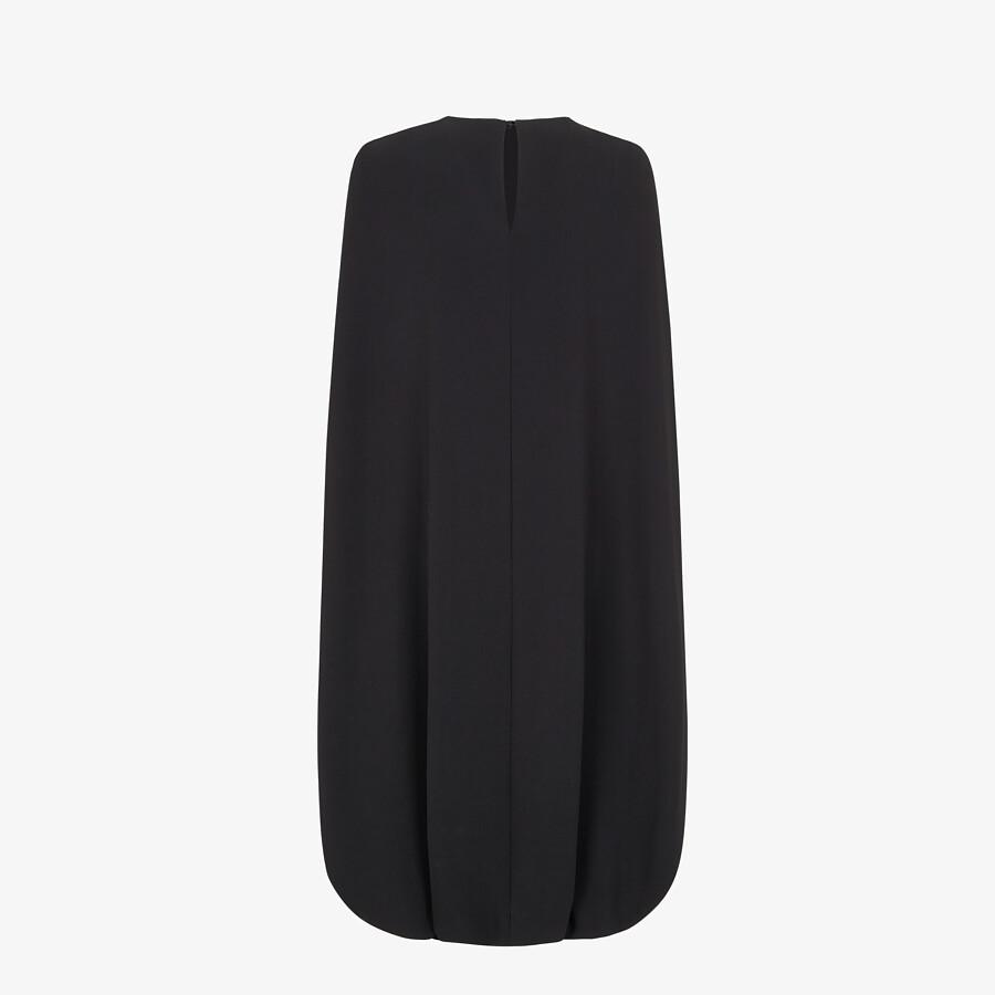 FENDI DRESS - Black cady dress - view 2 detail