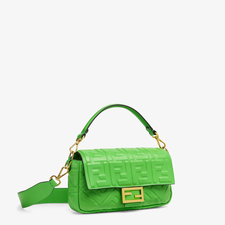 FENDI BAGUETTE - Green nappa leather bag - view 2 detail