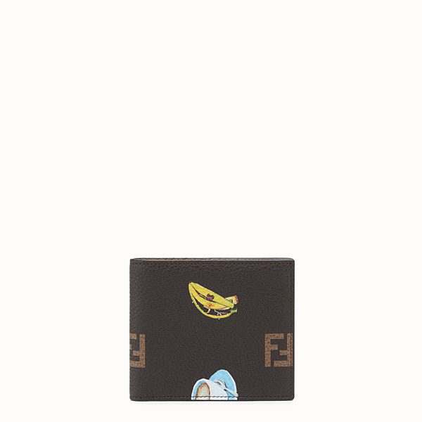 FENDI WALLET - Brown leather bi-fold wallet - view 1 small thumbnail