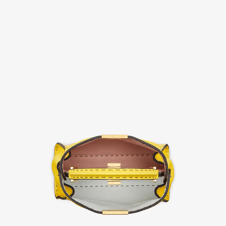 FENDI PEEKABOO ICONIC ESSENTIALLY - Yellow Cuoio Romano leather bag - view 5 detail