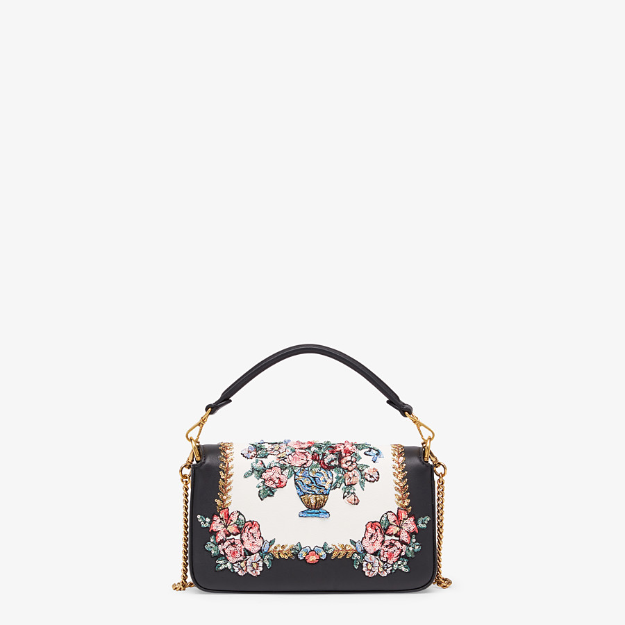 FENDI BAGUETTE MINI - Black leather bag - view 3 detail
