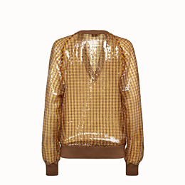 FENDI SWEATER - Check sequin sweater - view 2 thumbnail