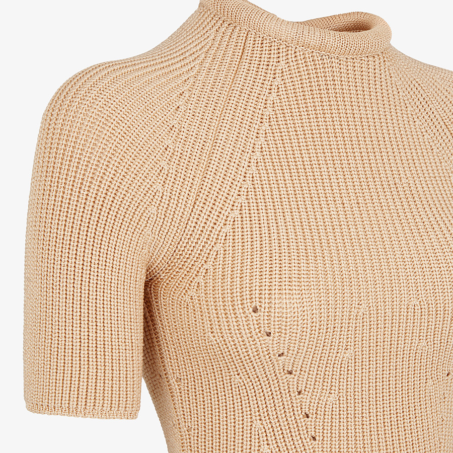 FENDI SWEATER - Sweater in beige silk - view 3 detail