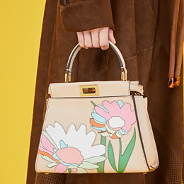 FENDI PEEKABOO ICONIC MINI - Pink leather bag - view 2 thumbnail
