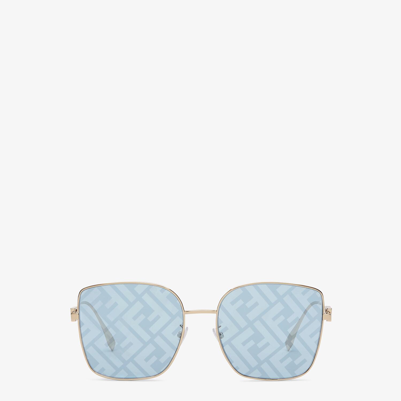 FENDI BAGUETTE - Sunglasses featuring light blue lenses with FF logo - view 1 detail