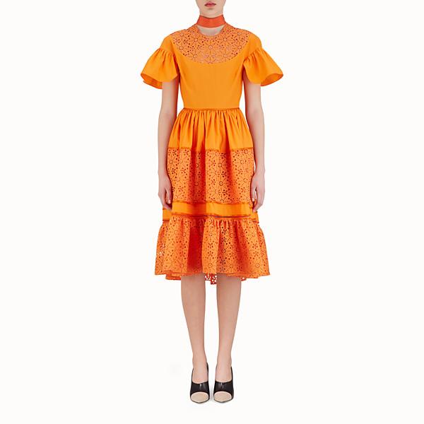 FENDI ROBE MI-LONGUE - Robe en coton orange - view 1 small thumbnail