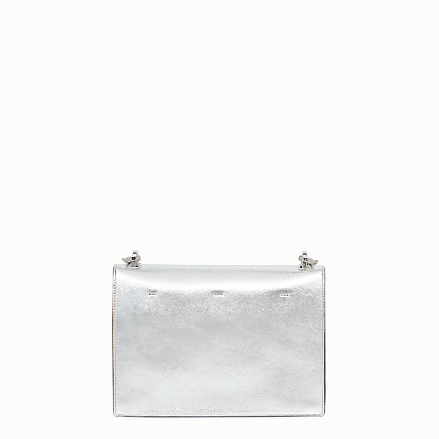 FENDI KAN U - Silver leather bag - view 4 detail
