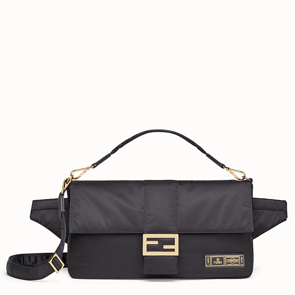 FENDI BAGUETTE FENDI AND PORTER - Black nylon bag - view 1 small thumbnail