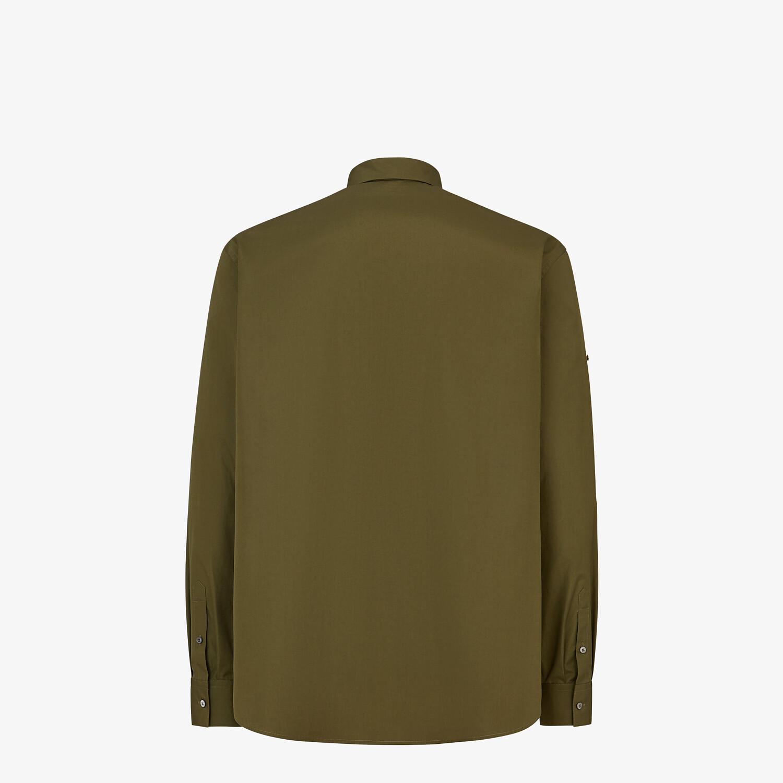 FENDI SHIRT - Green poplin shirt - view 2 detail
