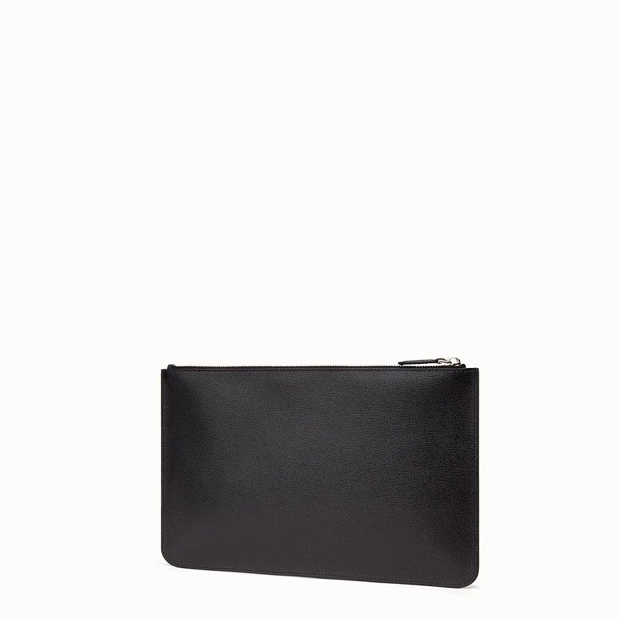 FENDI KARLITO POUCH - in elite leather with inlay - view 2 detail