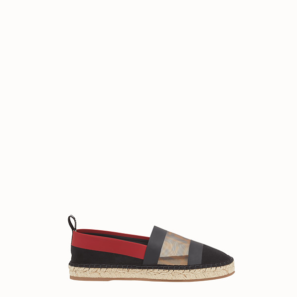 FENDI ESPADRILLES - Black canvas espadrilles - view 1 small thumbnail