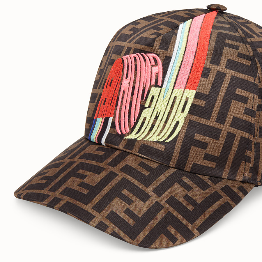 FENDI HAT - Fendi Roma Amor silk baseball cap - view 2 detail