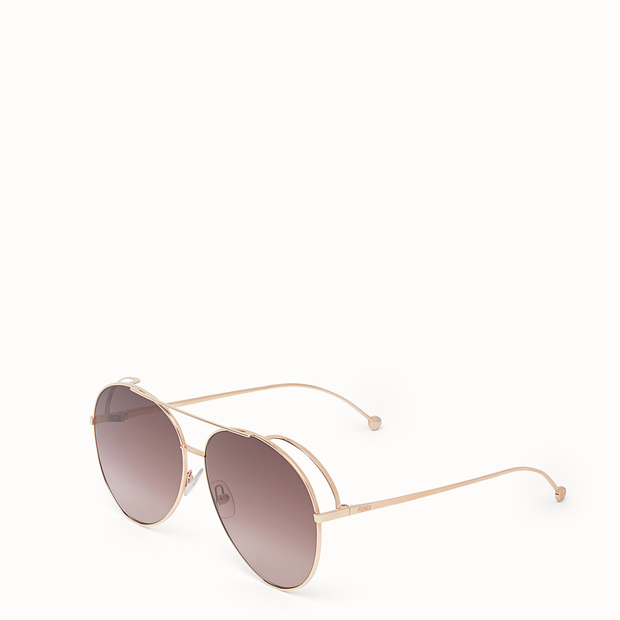 FENDI RUN AWAY - Copper-colour sunglasses - view 2 detail