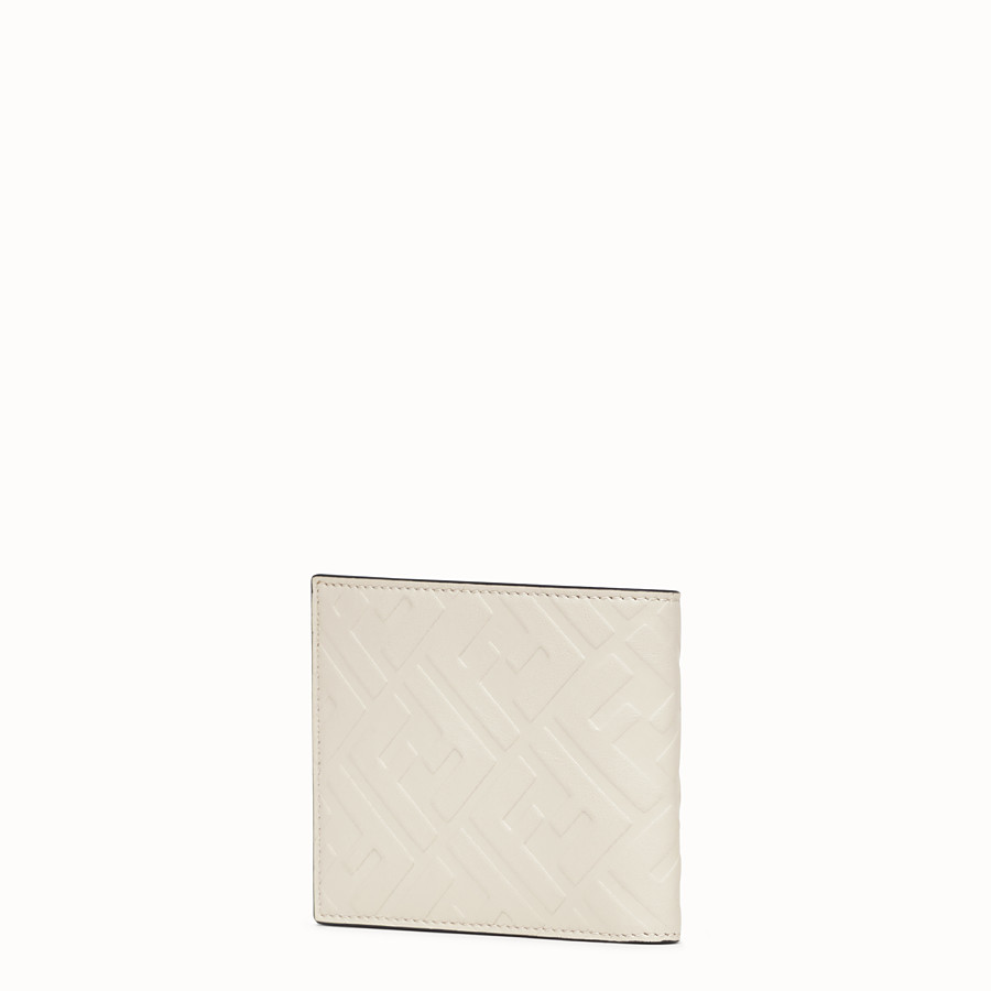 FENDI WALLET - White leather bi-fold wallet - view 2 detail