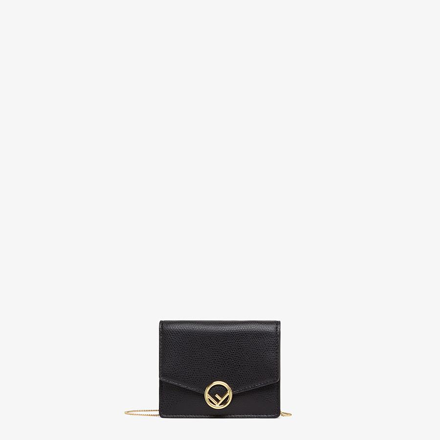 FENDI PORTEMONNAIE MIT TRAGEKETTE - Mini-Tasche aus Leder in Schwarz - view 1 detail