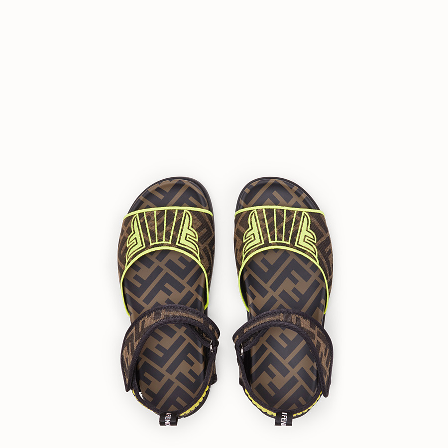 FENDI SANDALS - Fendi Roma Amor fabric flats - view 4 detail