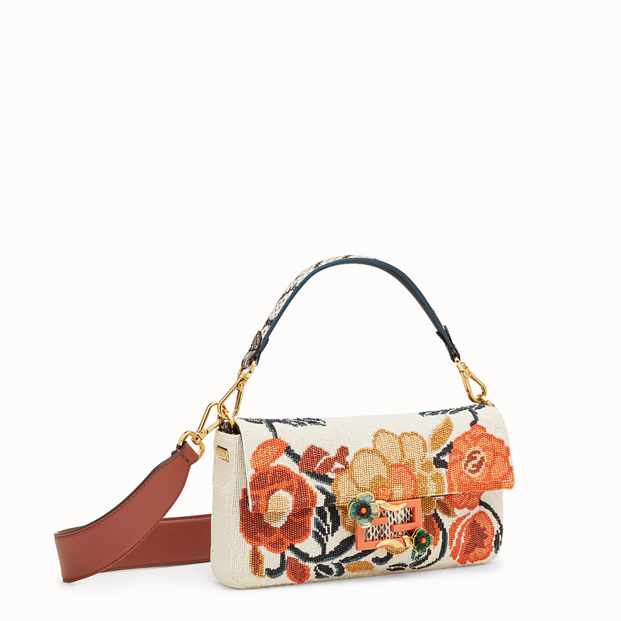 FENDI BAGUETTE - Bag with multicolour embroidery - view 2 detail