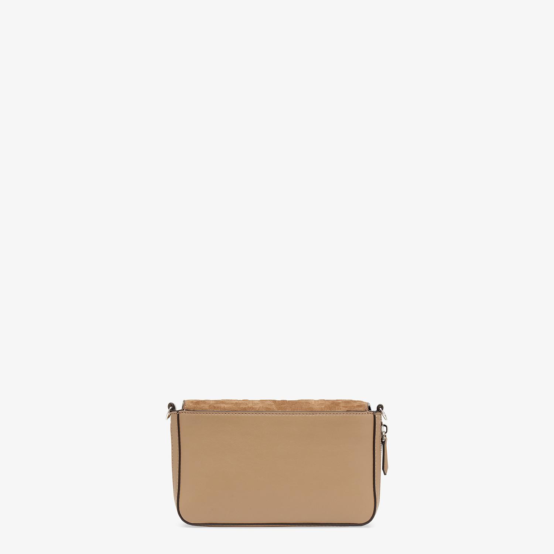 FENDI FLAP BAG - Beige leather bag - view 4 detail