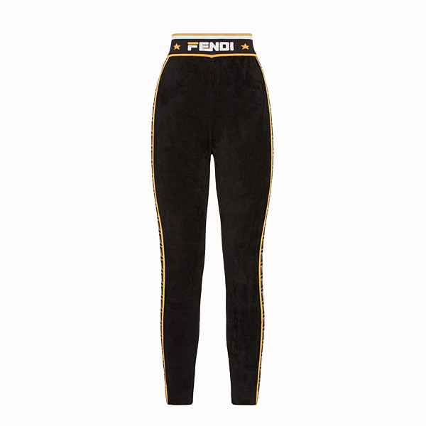 FENDI LEGGINGS - Black fabric trousers - view 1 small thumbnail