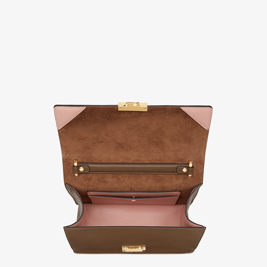 FENDI KAN U - Brown leather bag - view 5 detail