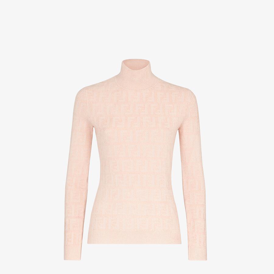 FENDI MAGLIA - Maglia in velluto rosa - vista 1 dettaglio