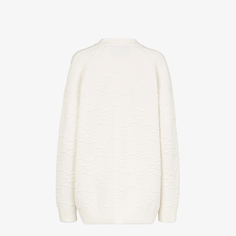 FENDI CARDIGAN - White wool and cashmere cardigan - view 2 detail