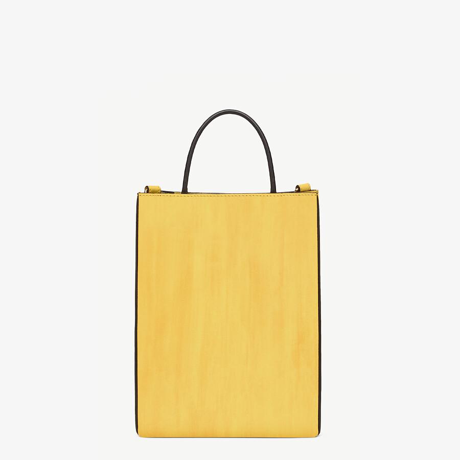 FENDI FENDI PACK SMALL SHOPPING BAG - Yellow leather bag - view 3 detail