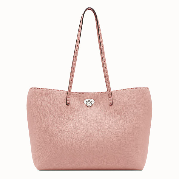 FENDI CARLA BAG SMALL - Borsa in pelle rosa - vista 1 thumbnail piccola