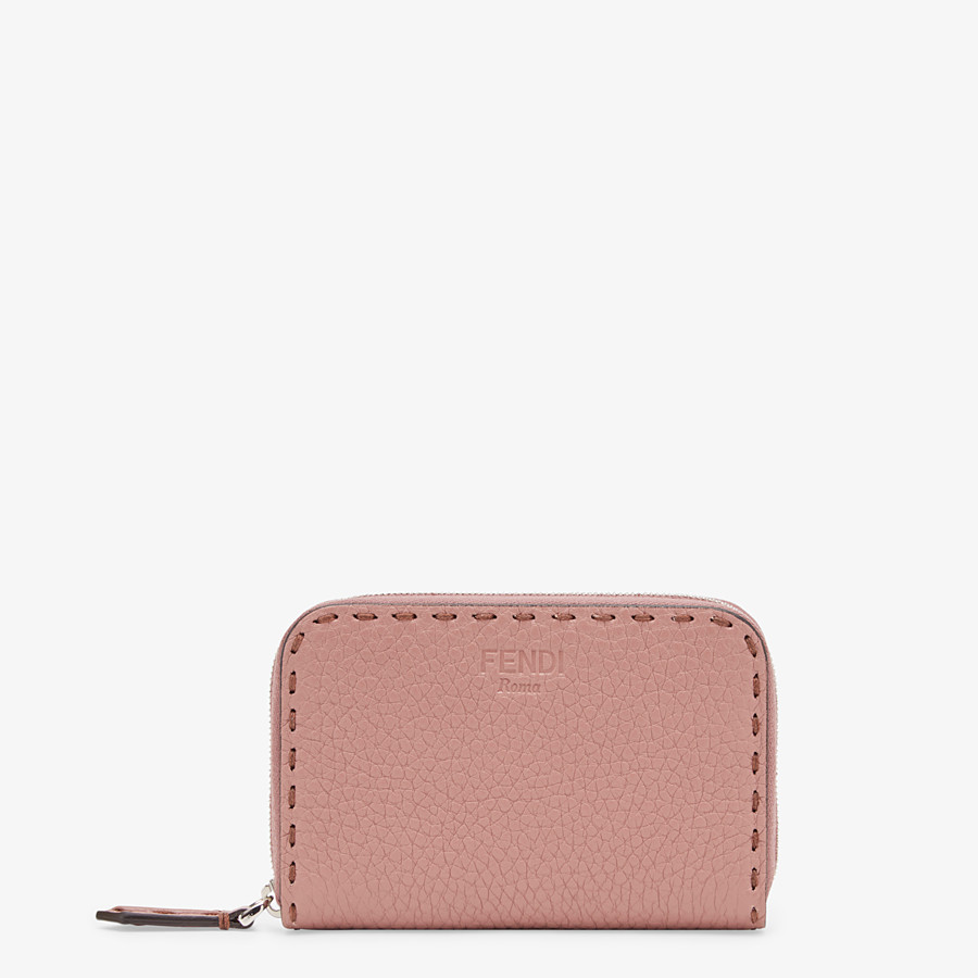 FENDI SMALL ZIP-AROUND - Pink leather wallet - view 1 detail