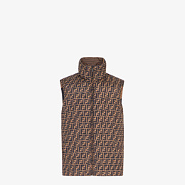 FENDI GILET - Brown nylon gilet - view 1 thumbnail