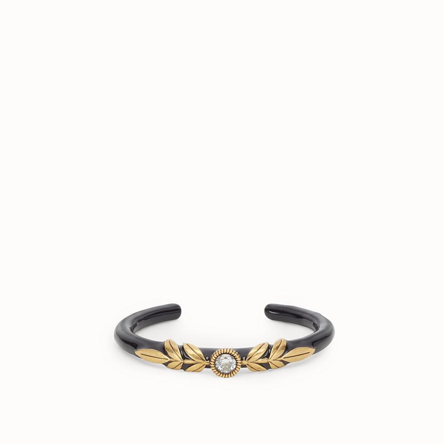 FENDI JULIUS CAESAR BRACELET - Gold and black coloured bracelet - view 1 detail