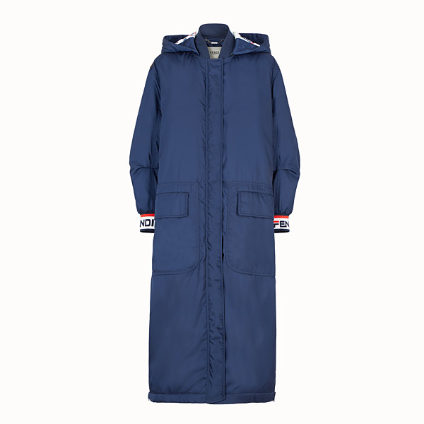 FENDI JACKET - Blue nylon coat - view 1 small thumbnail