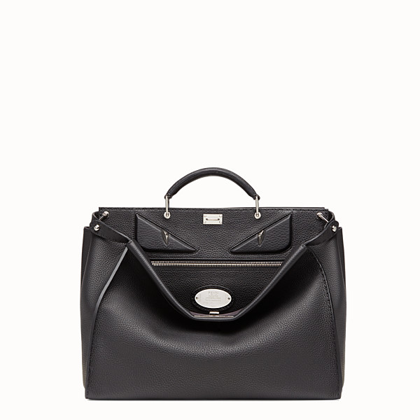 FENDI PEEKABOO MEDIUM - en cuir romain noir - view 1 small thumbnail